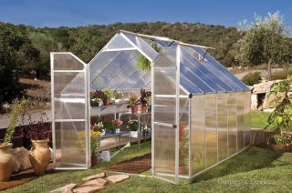 12 Greenhouse Twin Wall Polycarbonate w/Double Doors on Green House