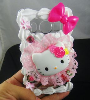 Hello Kitty 3D Cake Ice Cream Hard Cover Case for HTC EVO 4G Pink HT22