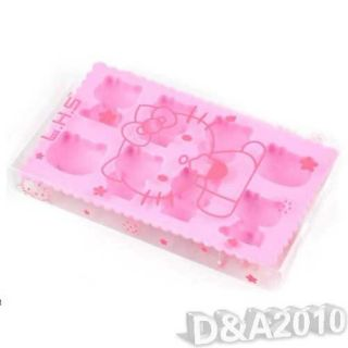 Hello Kitty Design Frozen Pudding Candy Jelly Ice Mold Cube Tray