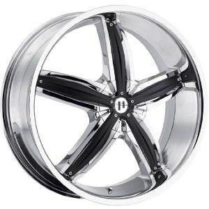 18 inch Helo HE844 Chrome Wheels Rims 5x4 5 5x114 3 40