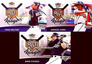 3X RBI Kings 2006 Ultra Fleer Todd Helton Andrew Jones Mike Piazza Lot