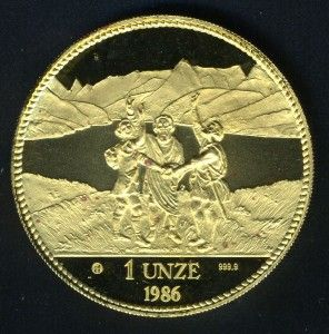 switzerland 1986 1ounce gold helvetia coin as shown