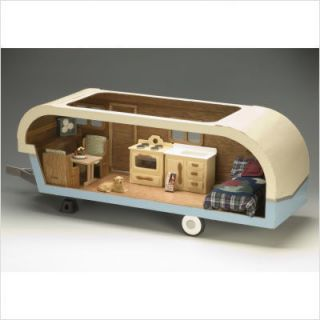 Greenleaf Dollhouses Vintage Travel Trailer Dollhouse Kit 9311