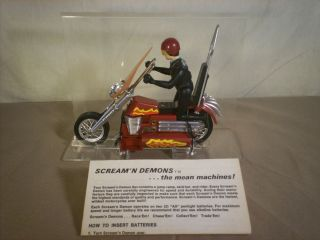 Hasbro Toy 1971 ScreamN Demon Dirty Devil Motorcycle with Rider Never