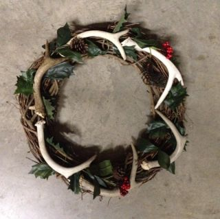 Deer Antler Christmas Decor Wreaths