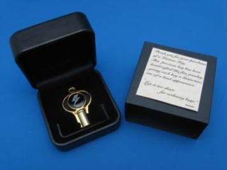 Trickkey Gold Uncut Barrel Key for Harley Davidson with Jewelry Box