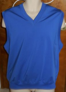 Greg Norman Play Dry Mens Medium Blue Sleeveless Vest Golf or Casual