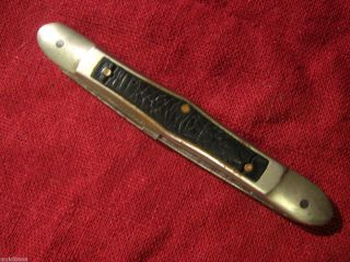 vintage Wilson Bros Henry Wilton Pocket Knife 2 Blade Antique old jack
