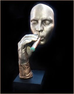 Havana Man Cigar Smoking Statue Sculpture John Cutrone