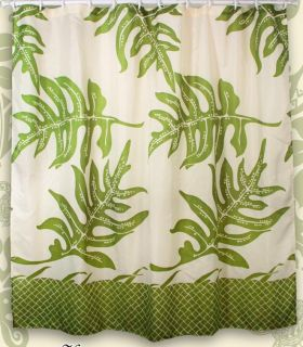 Lauae Fern Hawaiian Quilt Print Bathroom Fabric Shower Curtain