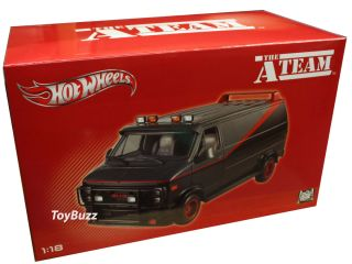 Hot Wheels 1 18 HERITAGE THE A TEAM VAN CHEVY GMC X5531 NEW 2012