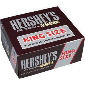 Hersheys Milk Chocolate with Almonds King Size 18 Bars