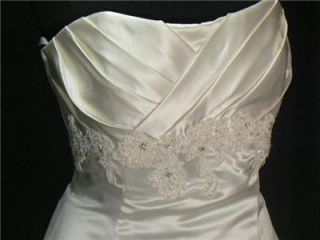 henry roth satin wedding dress gown 14 search