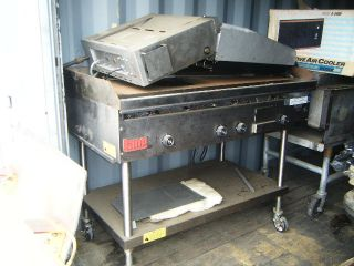 Lang Gas Grill Electric Salamander on Wheels