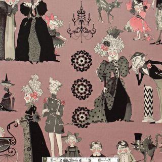 Alexander Henry THE GHASTLIES A Ghastlie Family Reunion Mauve Fabric 1