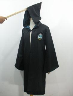 Harry Potter Slytherin Robe Cloak Fancy Dress Adult Costume Size M