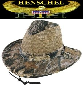 New Henschel Hats Mossy Oak Crushable Aussie Breezer Hunting Fishing