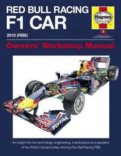 Haynes Red Bull Racing RB6 Manual H5099 F1 Formula One 1 Car Book