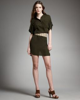 Haute Hippie Pocket Dress With Canvas Belt