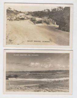 Real Photo Okinawa Japan WWII Era Postcards 13