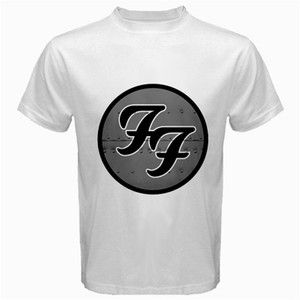 NEW FOO FIGHTERS DAVE GROHL BAND ROCK MUSIC ALBUM WHITE T SHIRT TEE