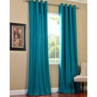 Aqua Turquoise Panel Grommet Faux Silk Curtain Sheer 60 x 84 New