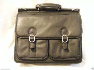 McKlein® Hazel Crest Leather Laptop Case ~ BLACK ~ Model # 15605