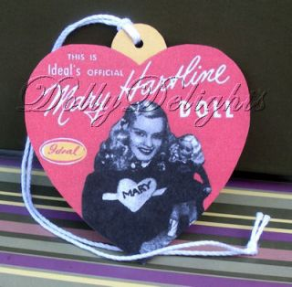 Ideal Mary Hartline Wrist Hang Tag