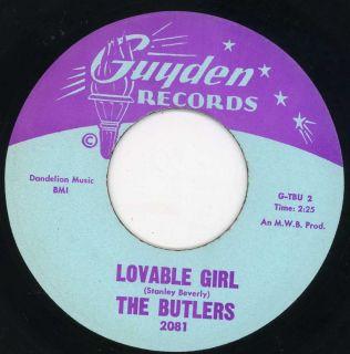 Butlers Lovable Girl Guyden Doo Wop 45 Listen