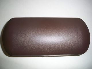 Eyeglasses Case with Strap and Cleaning Cloth Brown