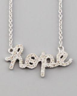 Y17AF Sydney Evan Diamond Hope Necklace, White Gold