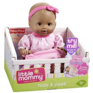Little Mommy Hide Peek African American Doll Pink Fisher Price