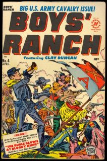 Boys' Ranch 4 Nice Harvey Golden Age Simon Kirby Cover Art 1951 VG