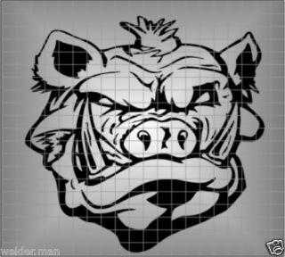 Wild Boar Feral Pig Head Hog Head Vinyl Sticker Decal Australian Made