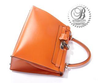 hermes kelly 28 cm orange box leather with phw bag