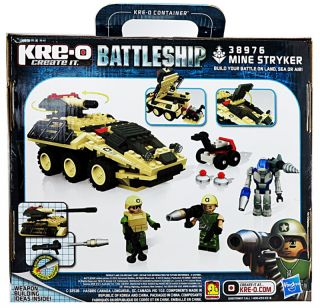 Hasbro Kre O Create It Battleship 38975 Air Assault 38976 Mine Stryker