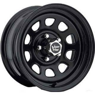 Vision D Window 16 Black Wheel / Rim 6x5.5 with a 12mm Offset and a
