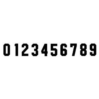 Inch Standard Set Paper Number Stencils for Screen Printing: