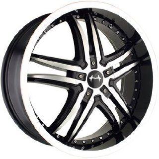 Mazzi Smoke 18x7.5 Machined Black Wheel / Rim 4x100 & 4x4.5 with a