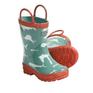 New Hatley Boys Girls Rain Boots Game Fish Toddlers Kids