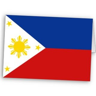 simple design featuring the Filipino flag. This card is blank inside