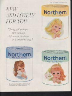 1959 Northern Girls Toilet Paper Bathroom Hygiene Ad