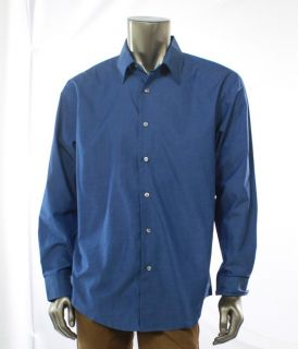Van Heusen New Blue Mens Shirt Button Up Long Sleeve Dress Top Size 16