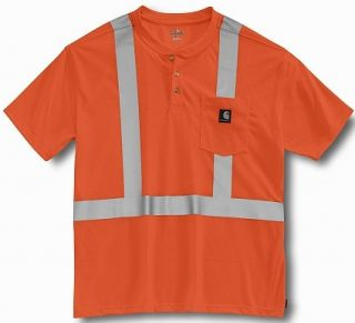 Carhartt High Visibility Work Dry Pocket T Shirt L Tall