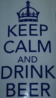 And Drink Beer   Vinyl Kitchen/Room Wall/Cupboard Art Sticker/Transfer