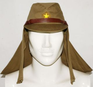 JAPANESE ARMY IJA EM NCO FIELD CAP HAT WITH HAVELOCK NECK FLAP L 32146