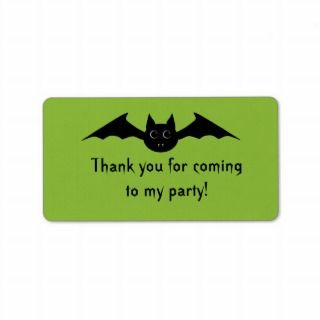 Cute gothic Halloween vampire bat with big eyes Address Label