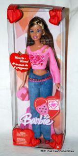 2004 hearts kisses barbie doll nrfb box a little warped