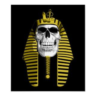 Bleached white skull with gold headdress ancient Egypt