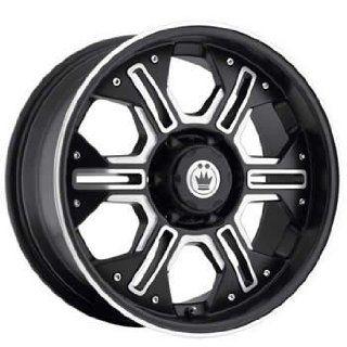 Konig Lock N Load 16x8 Black Wheel / Rim 5x5 with a 25mm Offset and a